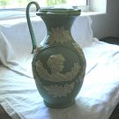 Large Light Green Jasperware Urn Pitcher