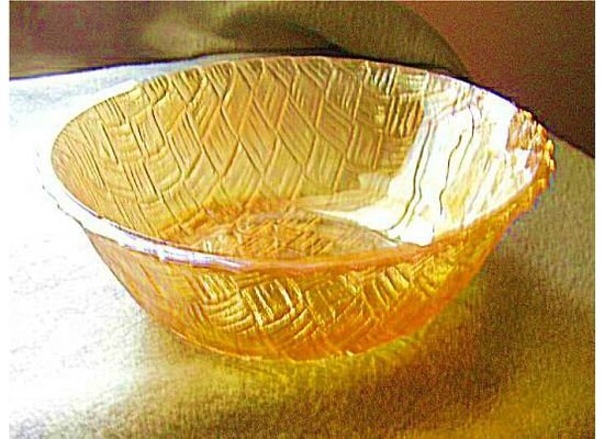 Carnival Glass Large Round Vegetable Bowl