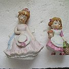 Miniature Figurines Lot of 2 Little Girls 1980