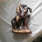 Rearing Stallion Figurine Made of Terra Cotta Signed Japan