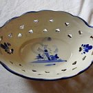 Flow Blue Handled Dish Excellent Condition