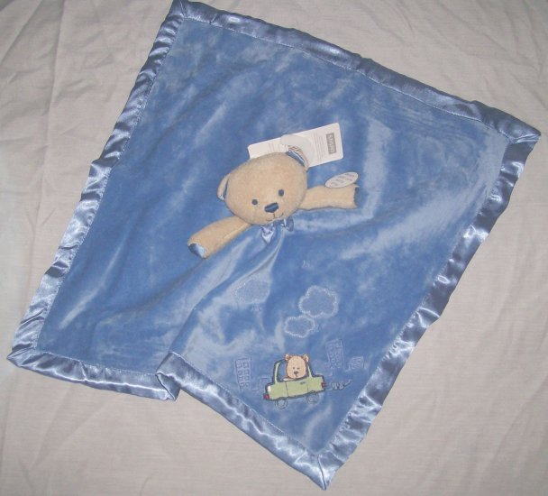 NWT CARTERs LITTLE GUY Bear SECURITY BLANKET Lovey NEW