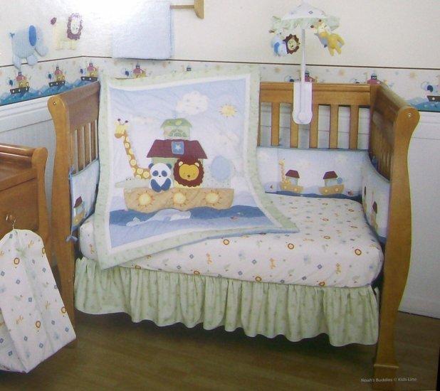 New Kidsline Noahs Buddies Ark 4 Piece Baby Nursery Crib Bedding Set