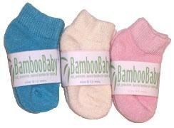 NEW BambooBaby BAMBOO BABY Girl Socks NWT GIFT 1 pair Pale Pink size 6 to 12 months