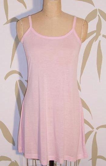 NEW 100% BAMBOO Fine Jersey Knit ORGANIC Pale Pink SLEEP SLIP DRESS NIGHTGOWN PAJAMAS XL