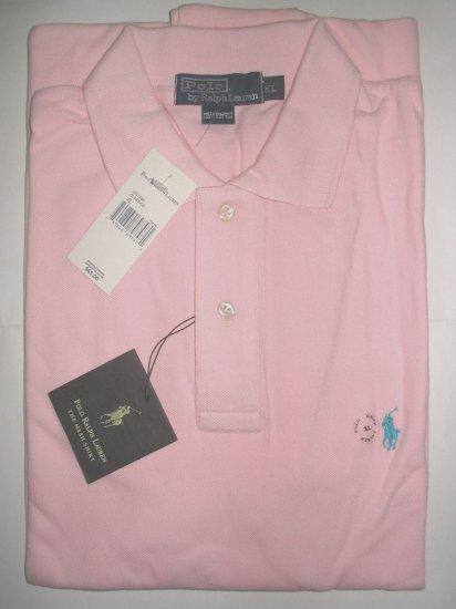 NEW RALPH LAUREN CLASSIC MESH POLO SHIRT XL Pink Cotton