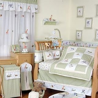 NEW Katie Little KIDSLINE Savannah 6 Piece Baby Nursery Crib Bedding Set Cotton Fabric NIP
