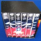 RARE - STAR TREK SET of  6 VHS  ANGLED SLIPCASE - COLLECTIBLE