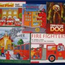 Lot 5 Books  FIREFIGHTERS/FIREHOUSE DOGS Gail Gibbons &