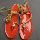 Tory Burch Jelly Orange Thong Sandals