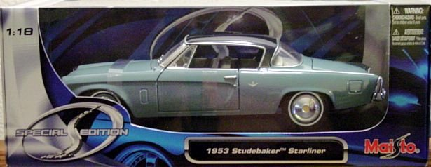 1:18 Scale Diecast 1953 Studebaker Starliner Coupe