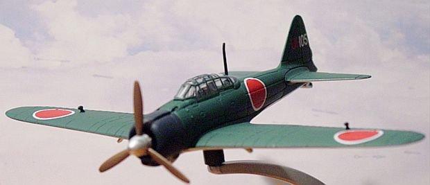"""Corgi """"Warbirds"""" WW2 1:72 Mitsubishi A6M-3A Zero"""