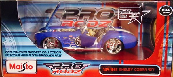 1:24 Scale Maisto Pro Rodz '65 Shelby Cobra '427' Blue