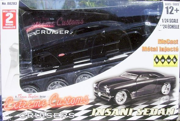 1:24 Scale Model Car Kit 'Insani Sedan' Extreme Custom Car