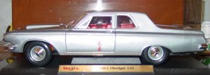 1963 Dodge 330 2 Door Sedan 1:18 Scale Diecast