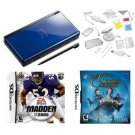 Nintendo DS Lite Blue Fun Bundle with 2 Games and 20 in 1 Kit. Free Shipping!!