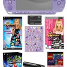 Sony PSP-3000 Limited Edition Hannah Montana Entertianment Bundle w/ 20+ Games & Camera