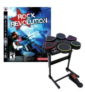 Rock Revolution Bundle w/ Drum Kit for PS3. Free Shipping!