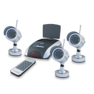 Swann SW233-WO3 NightHawk 3 Pack - 3 Wireless Color Cameras w/ Night Vision and Auto Switch Receiver
