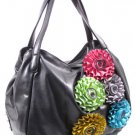 VERY NICE FLOWER HANDBAG- BLACK