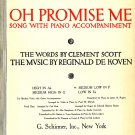 Oh Promise Me Song with Piano Accompaniment 1917 Vintage Sheet Music - 113