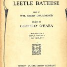 Leetle Bateese, Song with Piano Accompaniment 1921 Vintage Sheet Music - 110