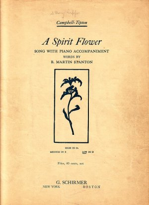 A Spirit Flower, Song with Piano Accompaniment, 1908 Vintage Sheet Music - 109