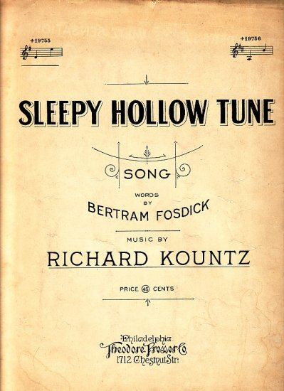 Sleepy Hollow Tune, 1924 Vintage Sheet Music - 116
