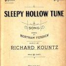 Sleepy Hollow Tune, 1924 Vintage Sheet Music - 116