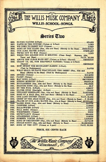 Praise of our Alma Mater, 1918 Vintage Sheet Music for Soprano, Alto and Bass - 117