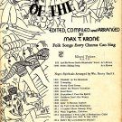 Ride the Chariot, Songs of the People Series for Mixed Voices, 1939 Vintage Sheet Music - 118