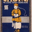 Chong He Come From Hong Kong 1929 Vintage Sheet Music - 125