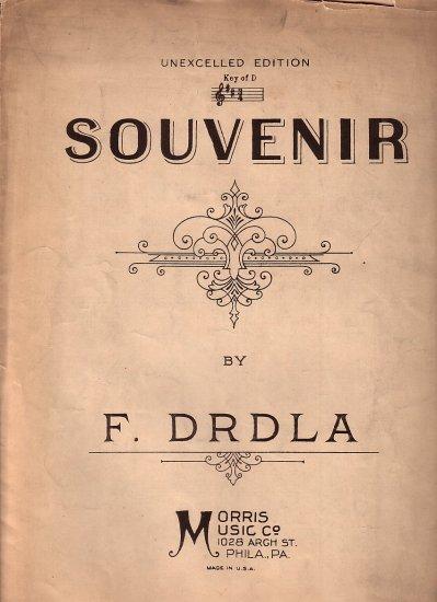 Souvenir by F. Drdla 1924 Vintage Sheet Music - 126