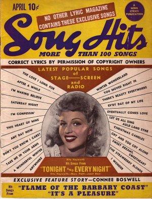April 1945 Song Hits, A Song Lyrics Publication - 128
