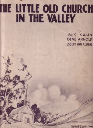 The Little Old Church in the Valley 1931 Vintage Sheet Music - 0139