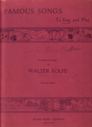 1938 Instruction Book for Beginner Intermediate Piano Students Music of Famous Songs - 0148