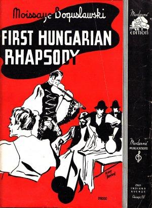 First Hungarian Rhapsody by Moissaye Boguslawski, 1936 Vintage Sheet Music 0156