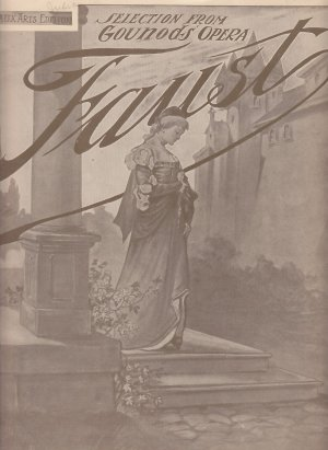 Composition from Gounods Opera Faust, Vintage Piano Sheet Music - 0161