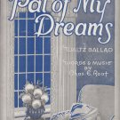 Pal Of My Dreams, Waltz Ballad by Chas. E. Roat 1923 Vintage Piano Sheet Music - 0162