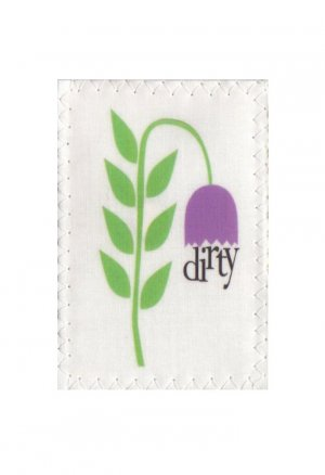 Dishwasher Clean Dirty Flip Magnet sign Purple Flower STAINLESS STEEL OPTION