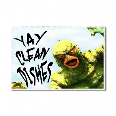 Monsters Dishwasher Clean Dirty Flip Sign magnet stainless steel option