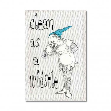 Clean Dirty Dishwasher Magnet Pixies elves gnomes wee folks red turquoise Stainless Steel Option