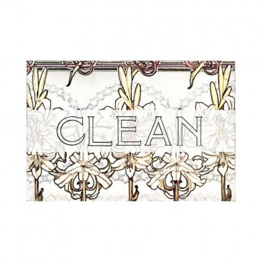 Dishwasher Magnet Clean Dirty Flip Sign Art Nouveau Jacobian Flowers shabby Stainless Steel Option