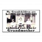 Fridge Magnet kitchen Grandchildren take after Grandmother humor funny vintage image grandmama love