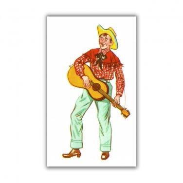 Rockabilly Guitar Plalyer fridge Magnet kitchen refrigerator 50s hillbilly music