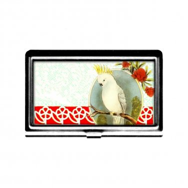 Cockatiel Bird Busniess Card Case Credit Card Holder metal case birdlover card case Cockatoo