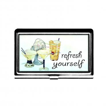 Refresh Yourself Busniess Card Case Credit Card Holder stainless steel summer cool down bartender