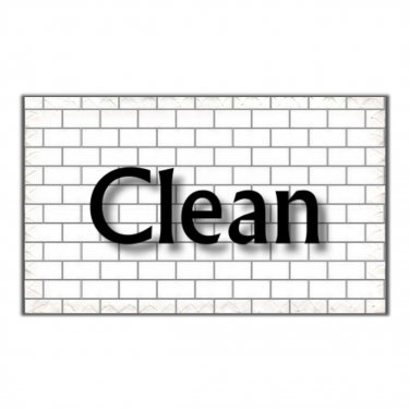 Dishwasher Clean Dirty Mini Flip Magnet Sign Subway Tile white gray chic home decor