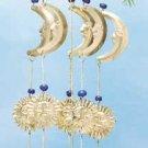 Brass Moon, Star, Sun Wind Chimes