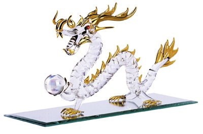 Glass Gold-Plated Dragon